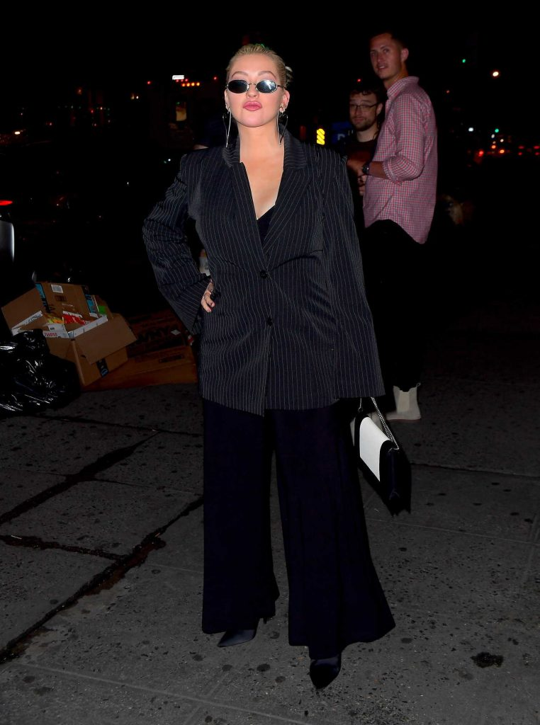 Christina Aguilera Night Out in New York-1
