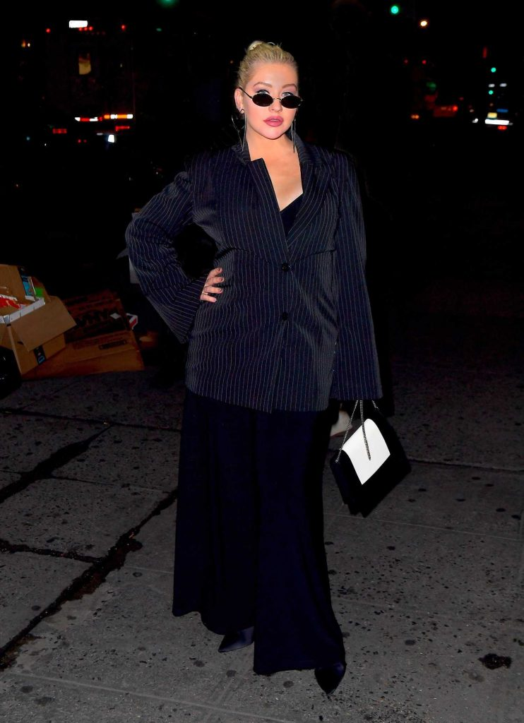 Christina Aguilera Night Out in New York-2