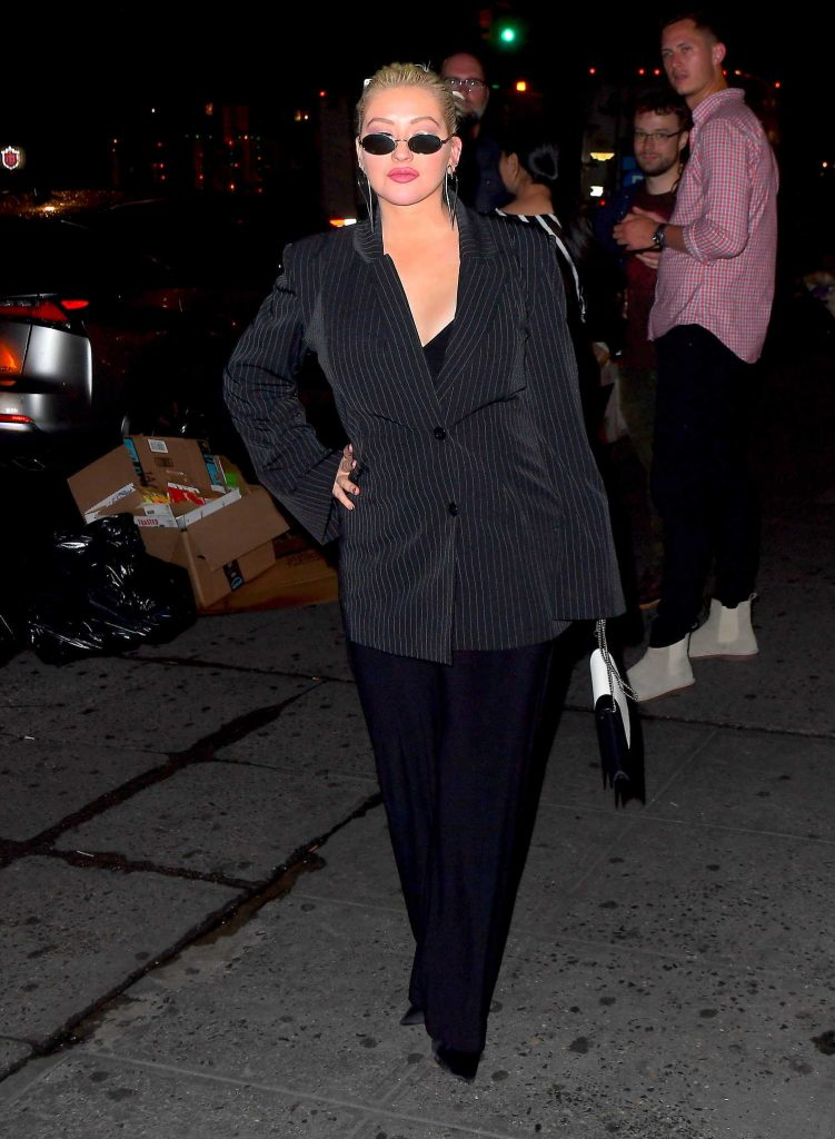Christina Aguilera Night Out in New York-3