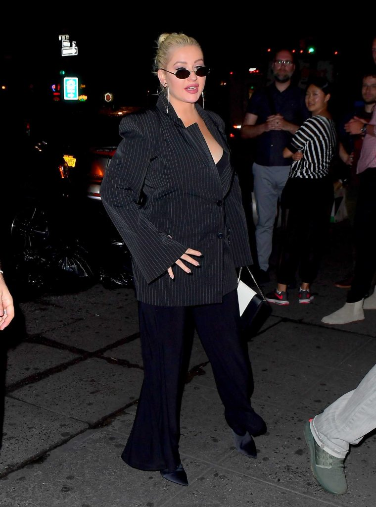 Christina Aguilera Night Out in New York-4