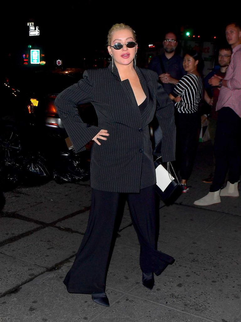 Christina Aguilera Night Out in New York-5
