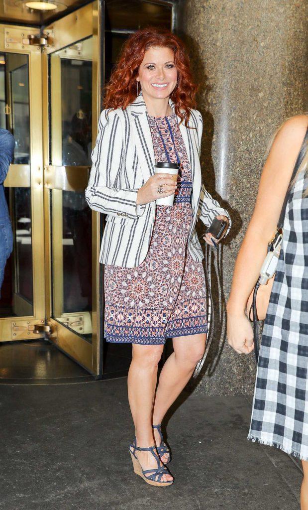 Debra Messing Leaves NBC Studios in NYC-1