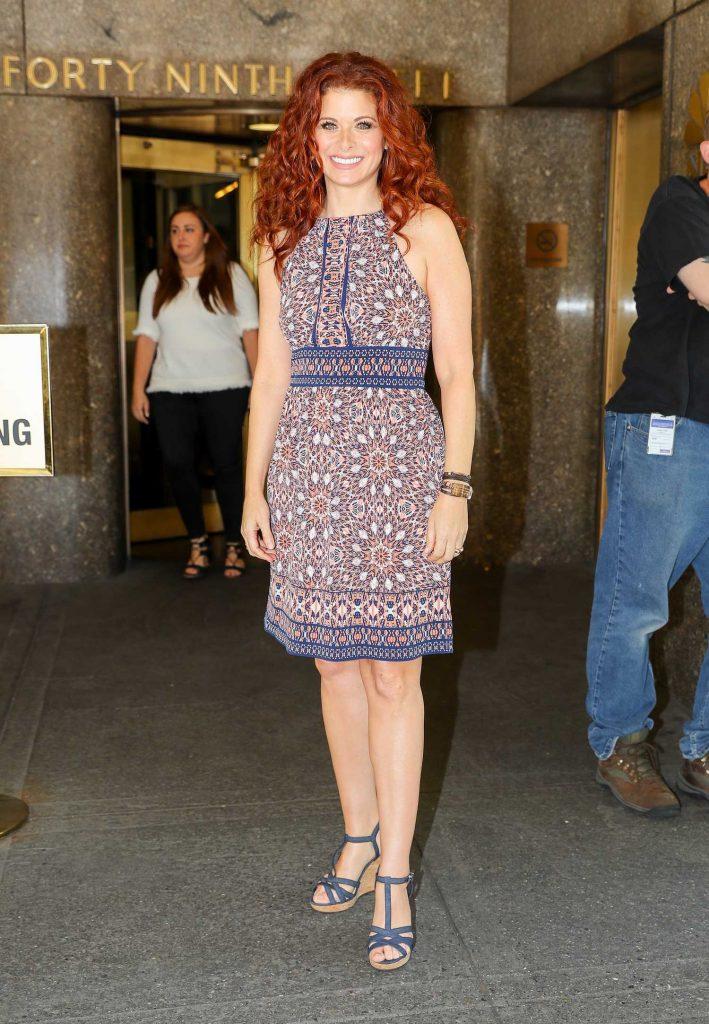Debra Messing Leaves NBC Studios in NYC-3