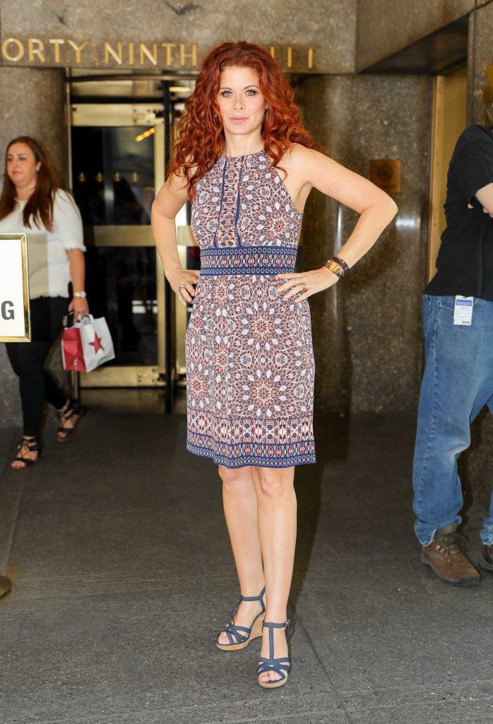 Debra Messing Leaves NBC Studios in NYC-4