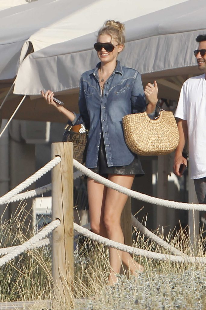 Elsa Hosk Leaves Lunch with Olivia Culpo in Formentera-1