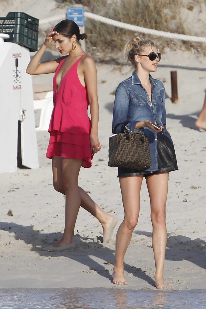 Elsa Hosk Leaves Lunch with Olivia Culpo in Formentera-4