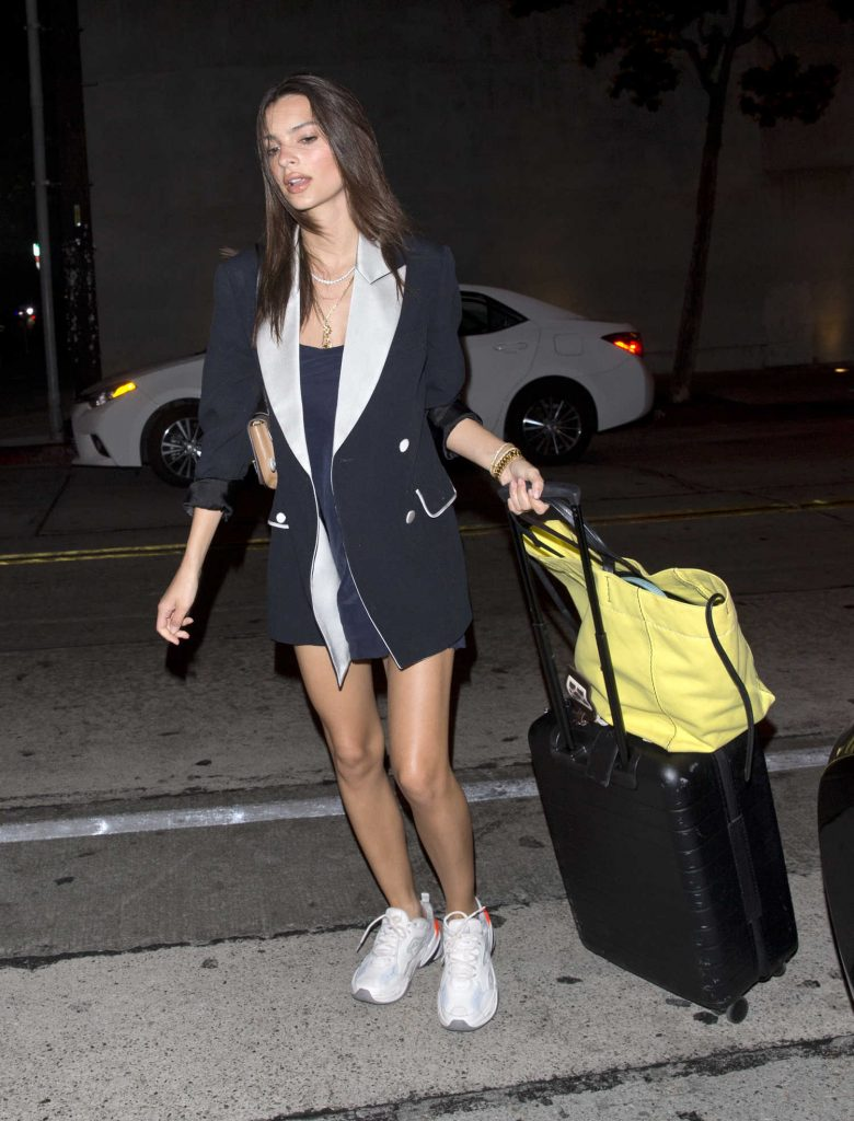 Emily Ratajkowski Carries Her Luggage at LAX Airport in LA-4