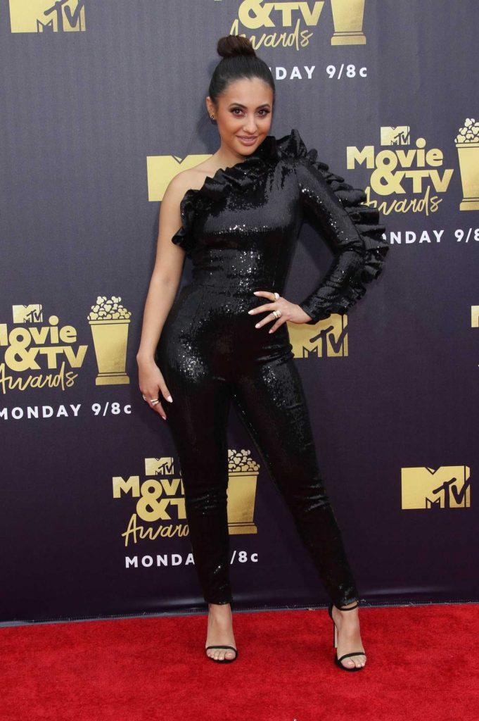Francia Raisa Attends the 2018 MTV Movie and TV Awards in Santa Monica-2