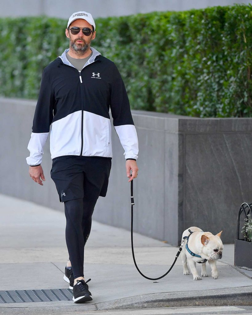 Hugh Jackman Walks His Dogs Out in New York City-2