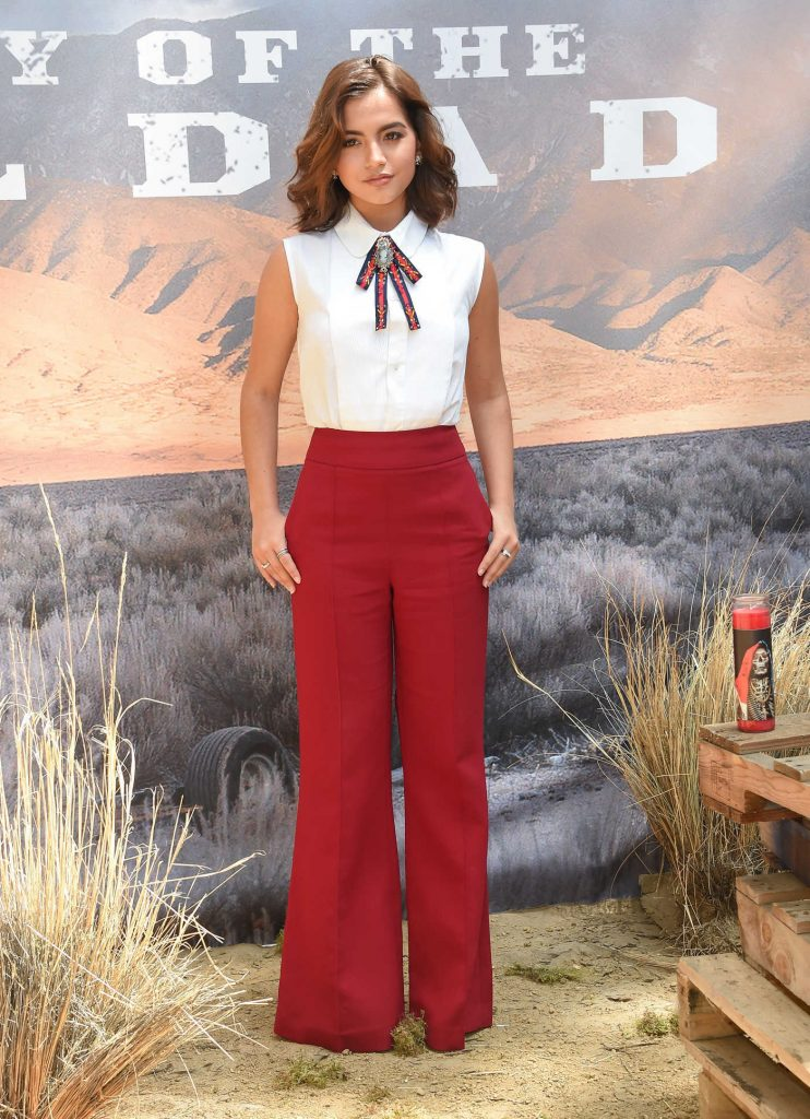Isabela Moner at the Sicario: Day of the Soldado Photocall at the Four Season Hotel in Los Angeles-1