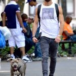 Justin Theroux Walks His Dog Out in New York