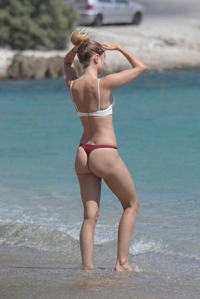 Kimberley Garner in Bikini at Elia Beach in Greece-3