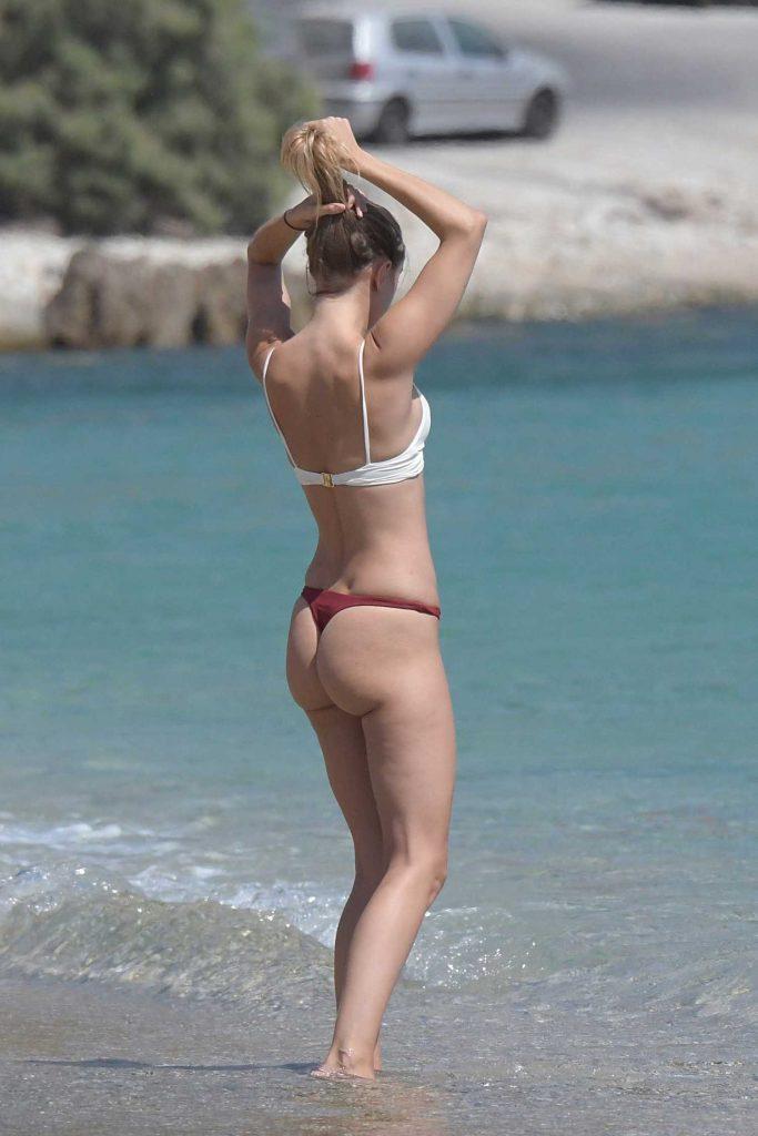 Kimberley Garner in Bikini at Elia Beach in Greece-4