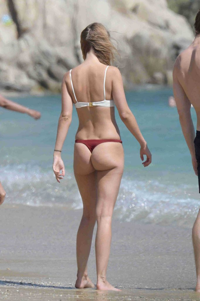 Kimberley Garner in Bikini at Elia Beach in Greece-5