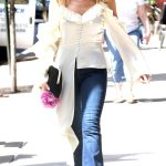 Kylie Minogue Heads for Her Concert at The Bowery Ballroom in New York