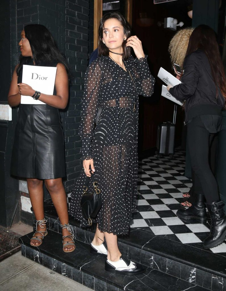 Nina Dobrev at the Dior Backstage Collection Dinner in New York City-4