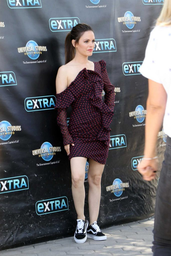 Rachel Bilson Arrives at Extra TV Show in Los Angeles-5