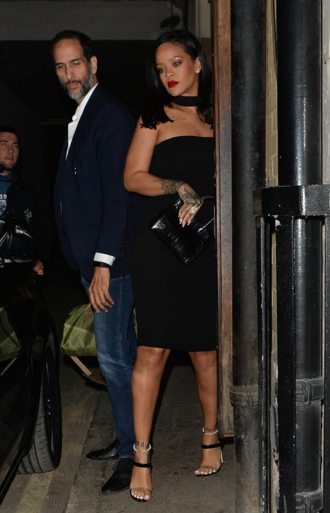Rihanna Night Out in Mayfair in London-1
