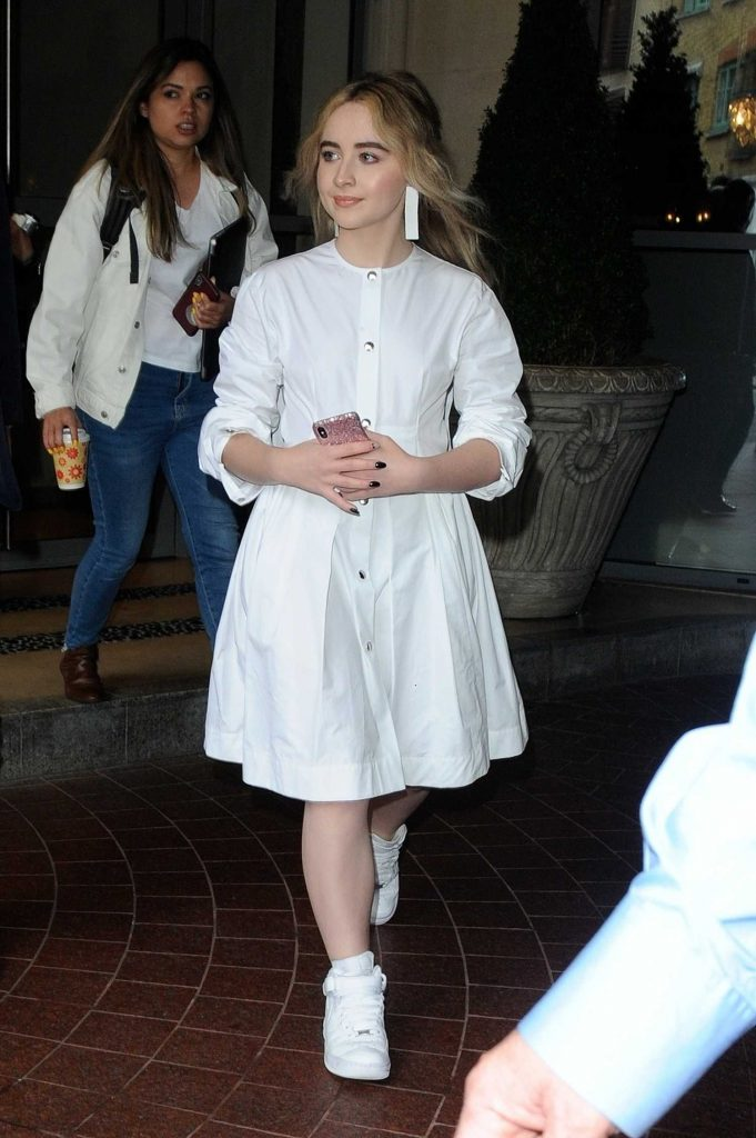 Sabrina Carpenter Leaves the Soho Hotel in London-1