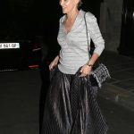 Sharon Stone Leaves Her Hotel in Paris
