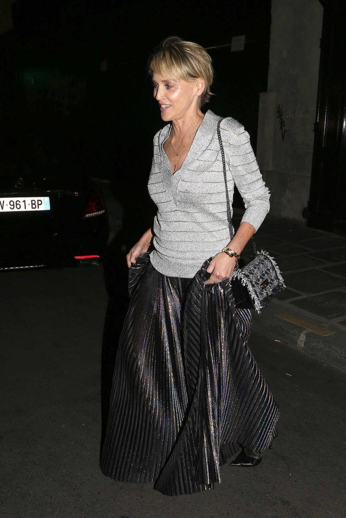 Sharon Stone Leaves Her Hotel in Paris-1