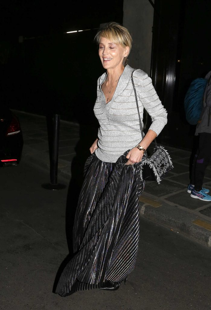 Sharon Stone Leaves Her Hotel in Paris-2