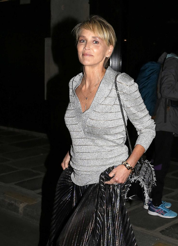 Sharon Stone Leaves Her Hotel in Paris-3