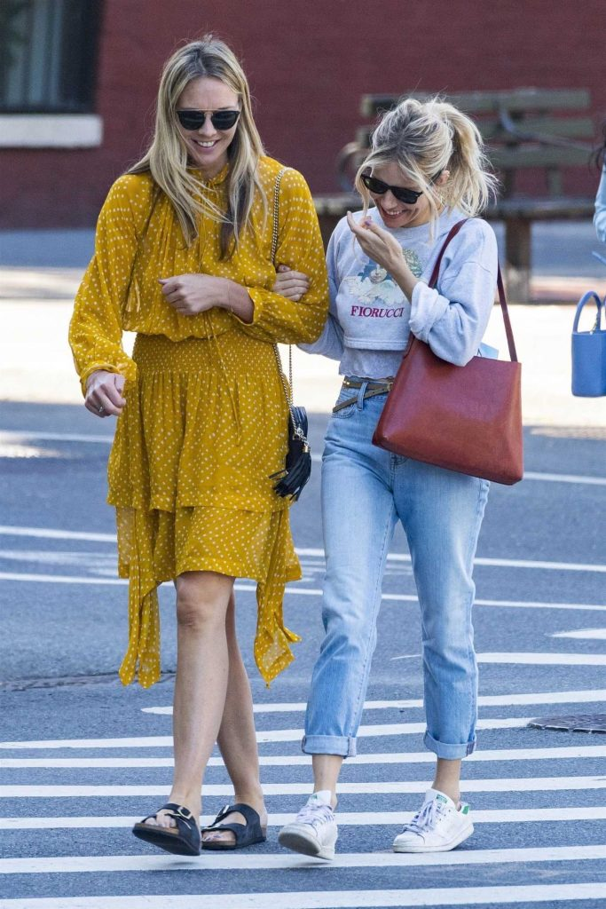 Sienna Miller Was Spotted with Friend Out in New York City-2