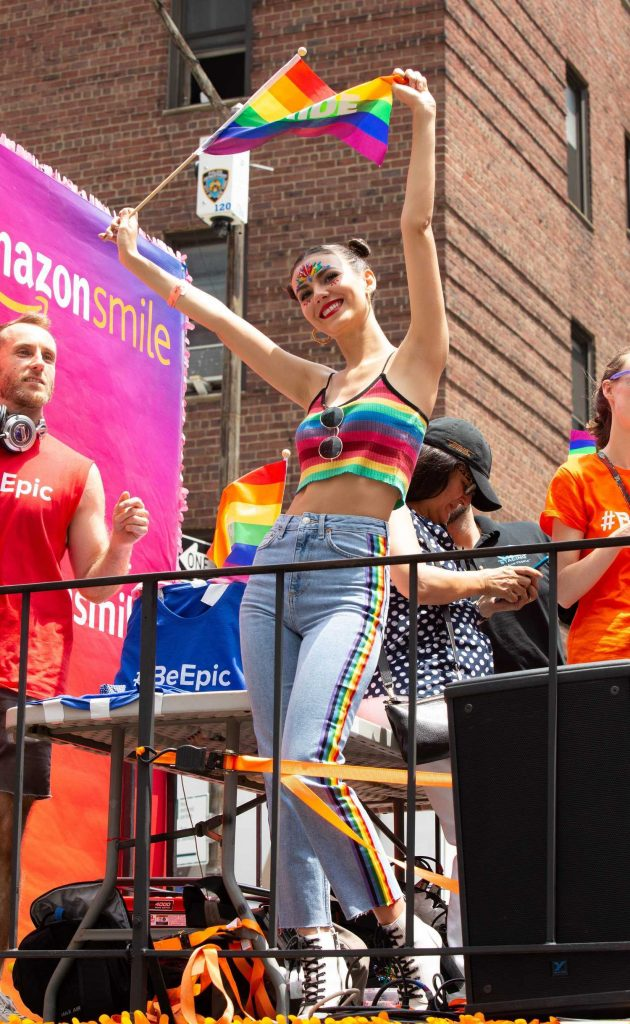 Victoria Justice at 2018 New York City Pride March in NYC-1