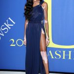 Winnie Harlow at 2018 CFDA Fashion Awards at Brooklyn Museum in New York City