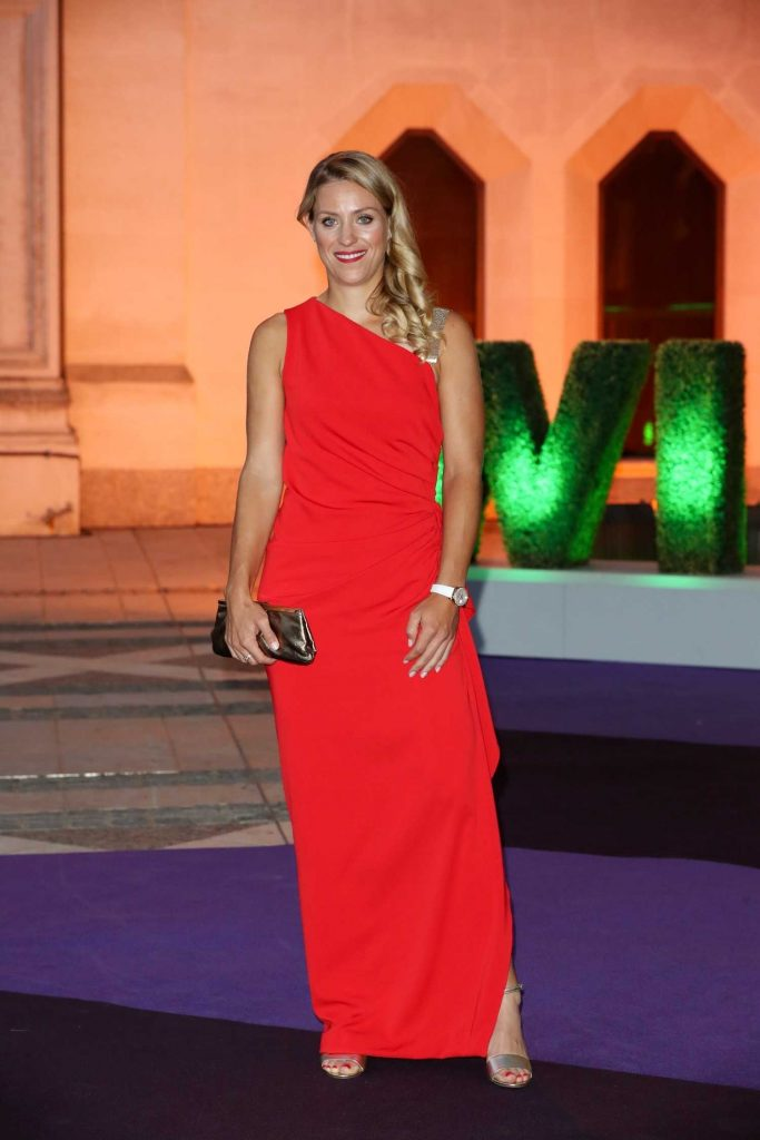 Angelique Kerber in a Long Red Dress at 2018 Wimbledon Champions Dinner at Guildhall in London-1
