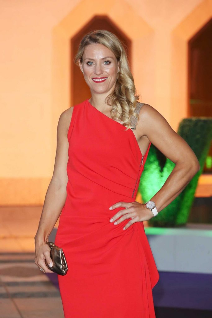 Angelique Kerber in a Long Red Dress at 2018 Wimbledon Champions Dinner at Guildhall in London-4