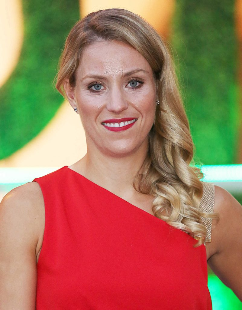 Angelique Kerber in a Long Red Dress at 2018 Wimbledon Champions Dinner at Guildhall in London-5