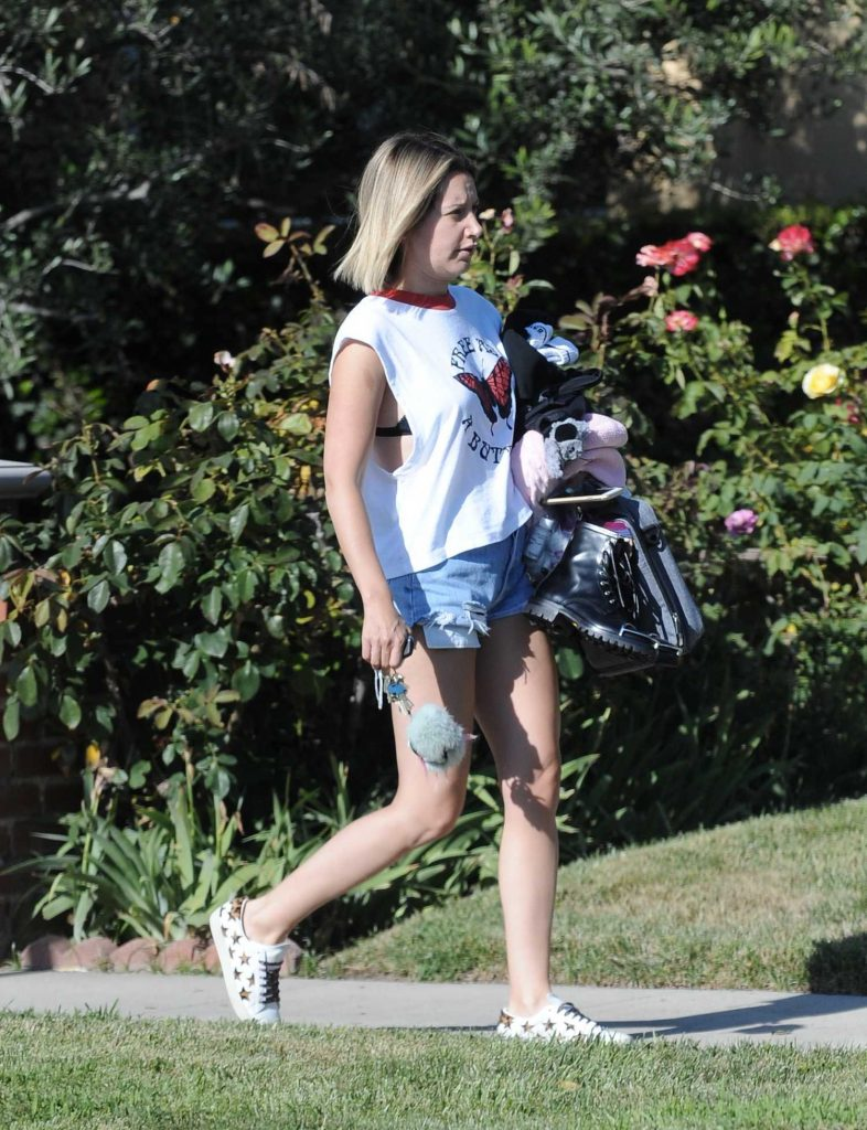 Ashley Tisdale Goes Makeup Free Out in Los Angeles-3