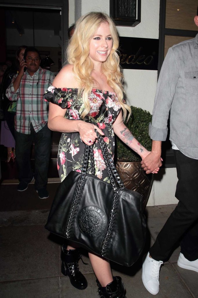 Avril Lavigne in a Babydoll Dress
