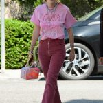 Bella Thorne Wears a Pink T-Shirt After Dinner with a Gal Pal at Versailles Cuban Restaurant in Encino