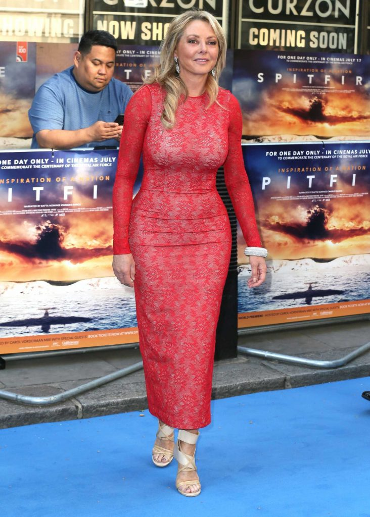 Carol Vorderman Attends Spitfire World Premiere in Mayfair, London-1