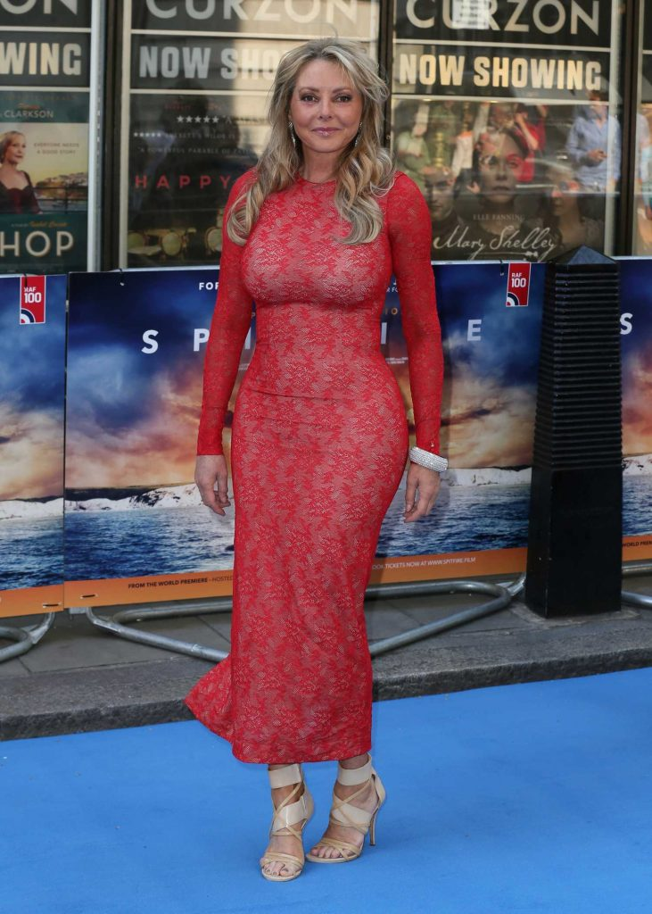 Carol Vorderman Attends Spitfire World Premiere in Mayfair, London-3