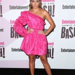 Chloe Bennet in a Short Pink Dress at the Entertainment Weekly Party During 2018 Comic-Con in San Diego