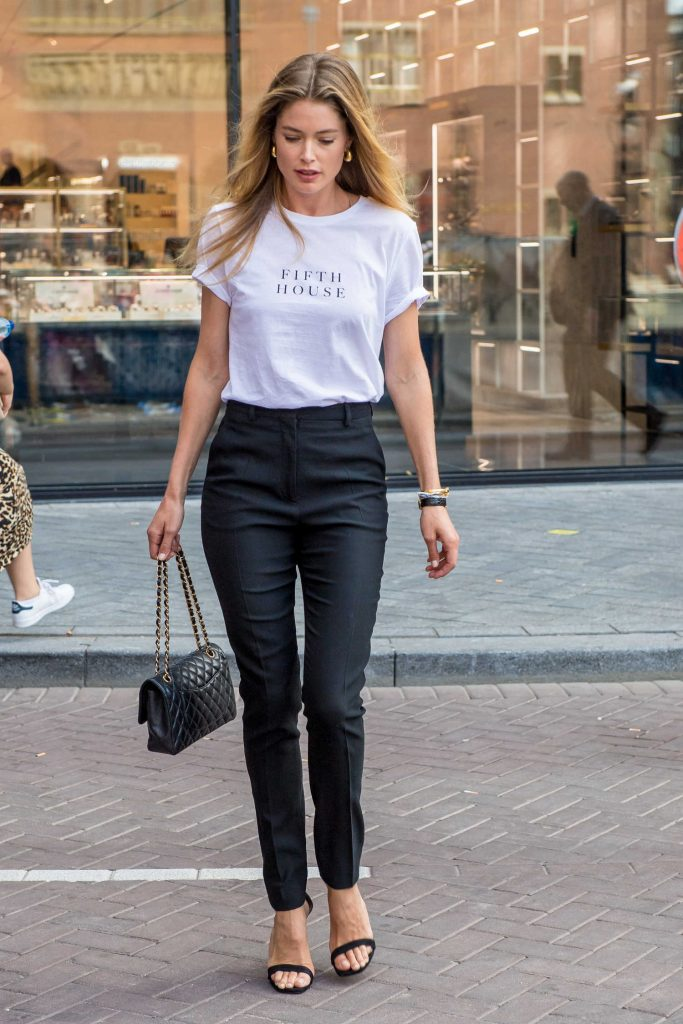 Doutzen Kroes Wears a Fifth House T-Shirt Out in Amsterdam-1