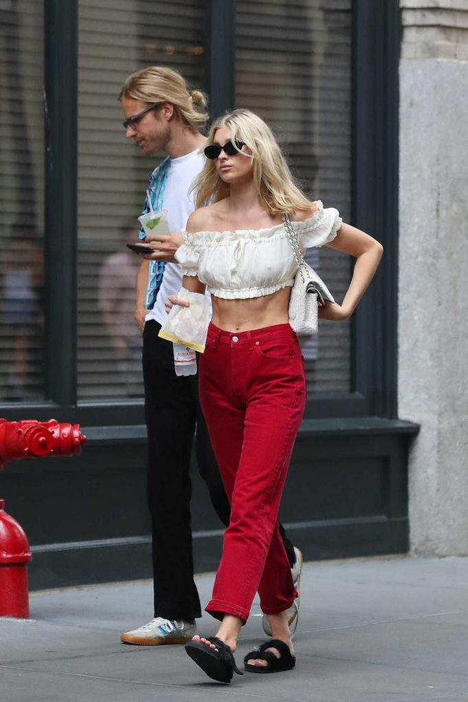 Elsa Hosk Was Spotted Out with Her Boyfriend Tom Daly in SoHo, New York City-4