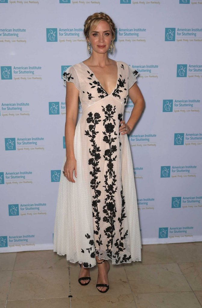 Emily Blunt Attends at the 12th Annual AIS Freeing Voices Changing Lives Gala in New York-1