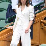 Emma Watson Arrives at Wimbledon Tennis Tournament in London