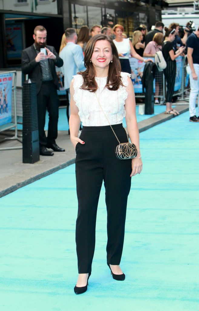 Jo Hartley Arrives at the Swimming with Men Premiere in London-2