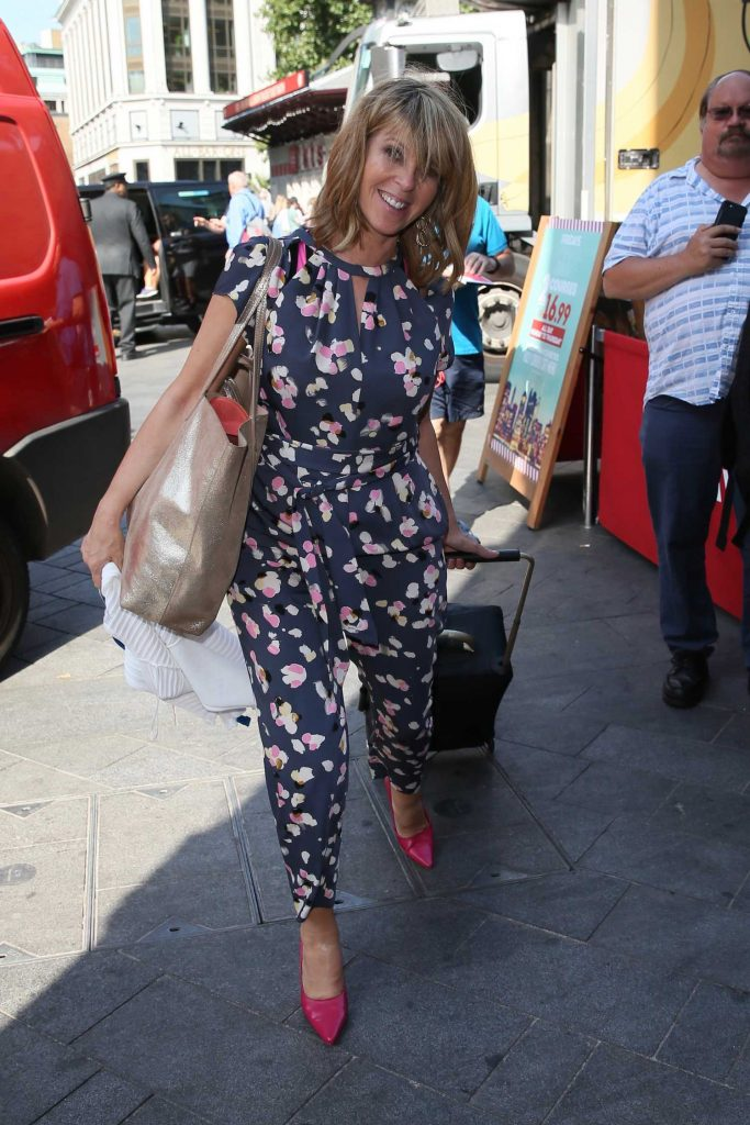 Kate Garraway in a Floral Overalls