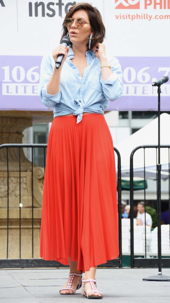 Katharine McPhee at Lite FM Broadway in the Park in New York-4