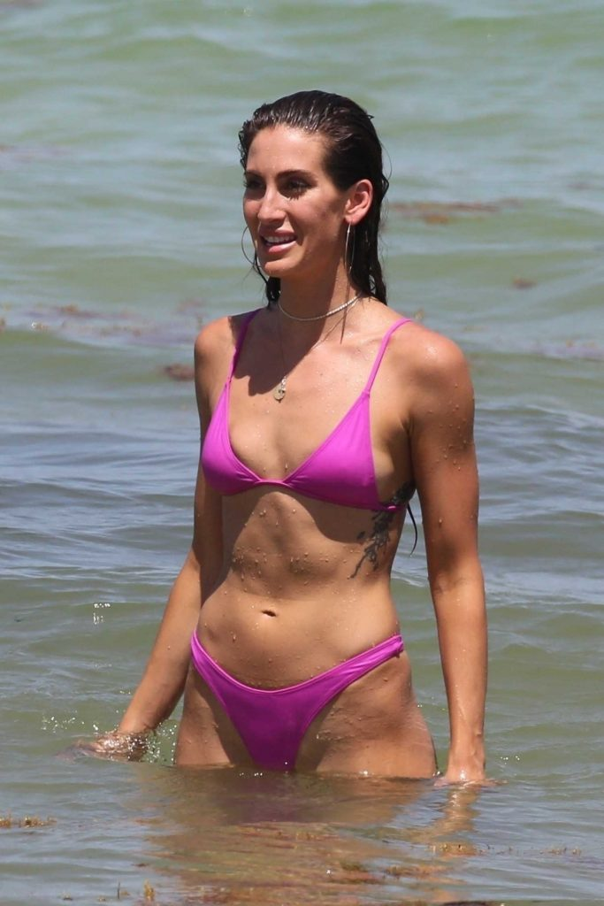 Kaylee Ricciardi in Bikini on the Beach in Miami-1