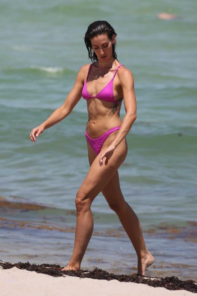 Kaylee Ricciardi in Bikini on the Beach in Miami-2