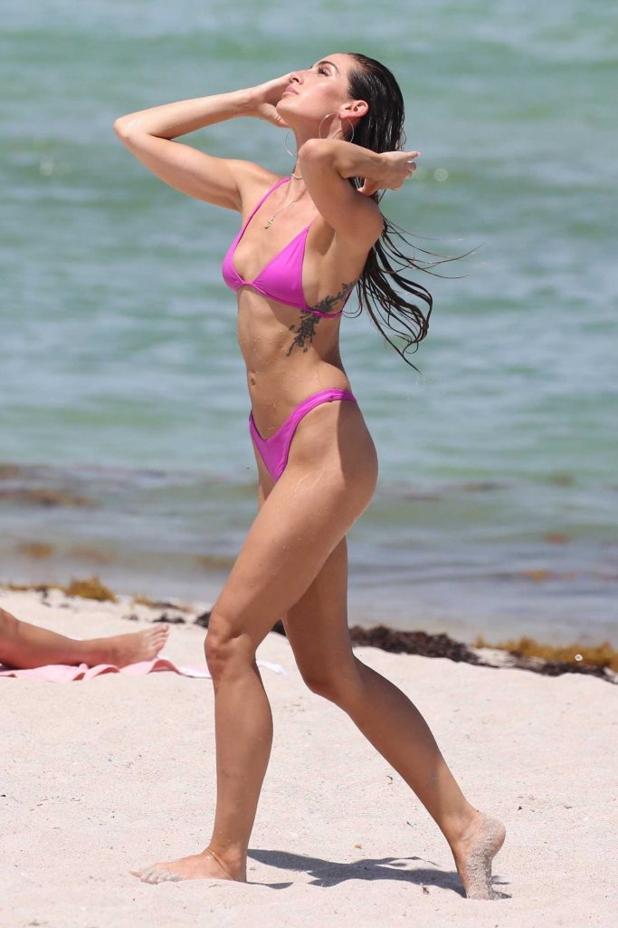 Kaylee Ricciardi in Bikini on the Beach in Miami-3