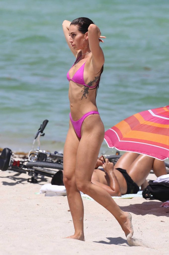 Kaylee Ricciardi in Bikini on the Beach in Miami-4